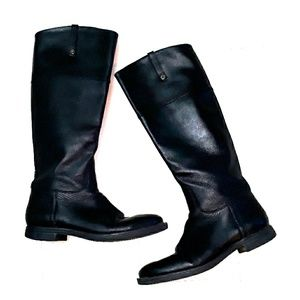 Enzo Angiolini black tall leather riding boots